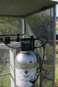 Sistema de cloración en lugar abierto